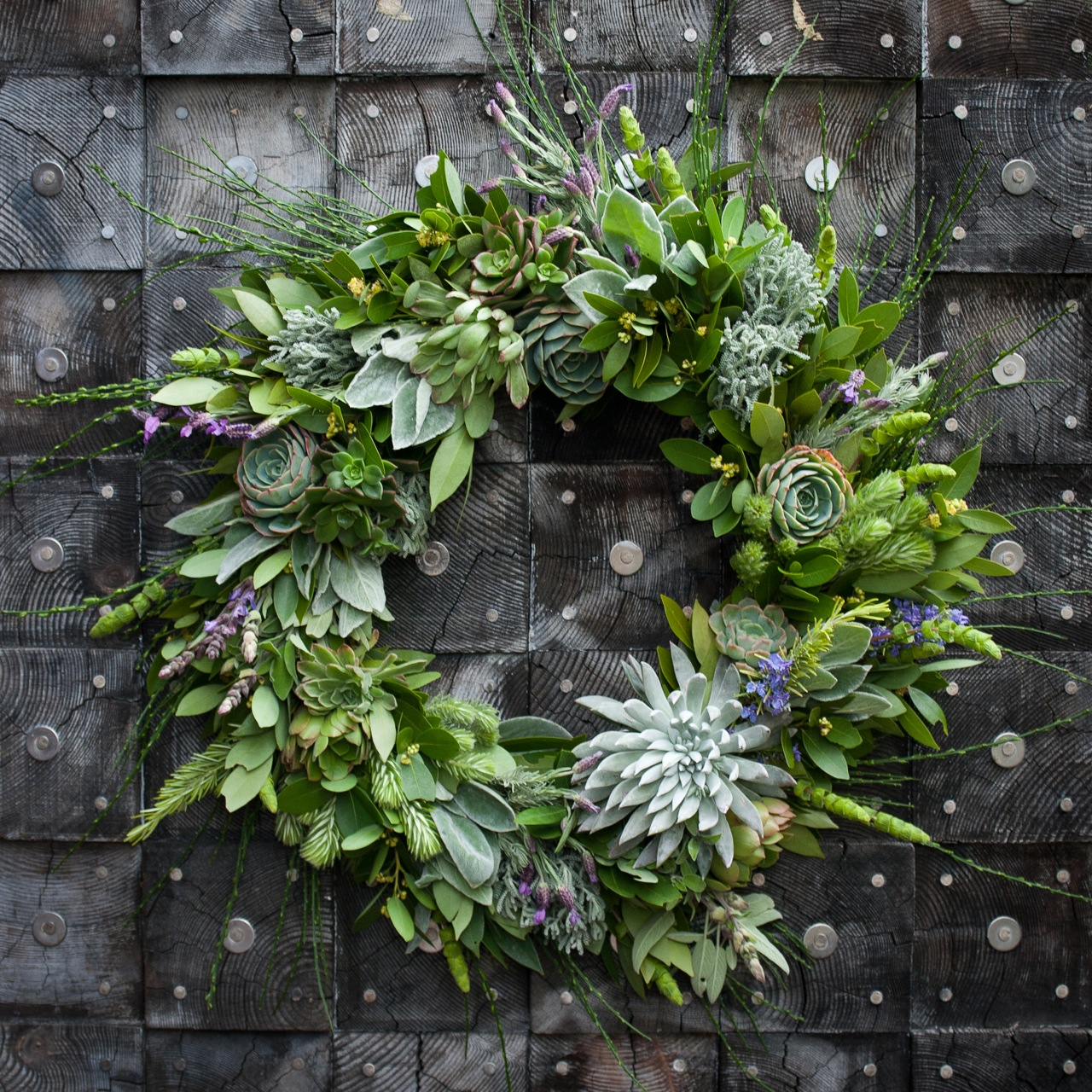 Bay-and-Succulent-Wreath