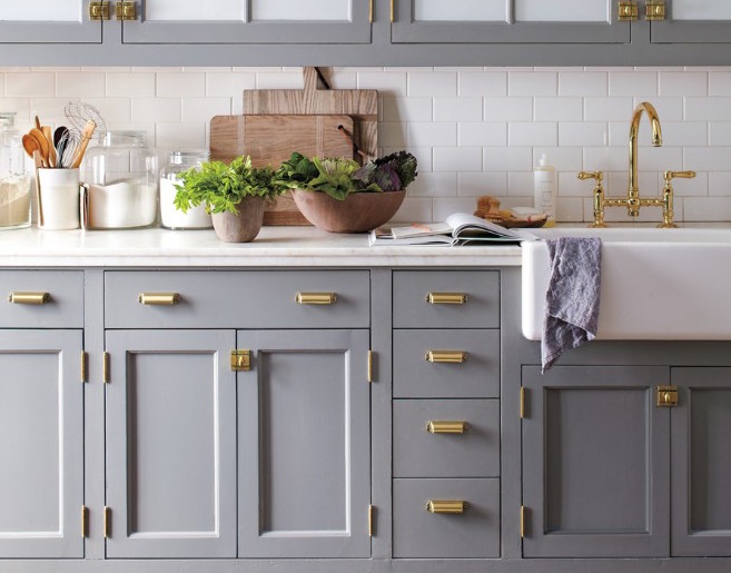Grey Kitchen Cabinets Gold Hardware make your kitchen classic with grey kitchen cabinets -