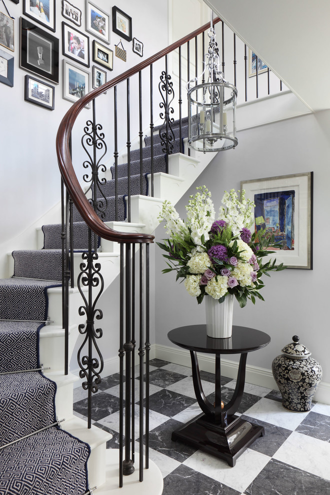 Stunning-Georgian-Style-home-interior-design-Traditional-Staircase-London
